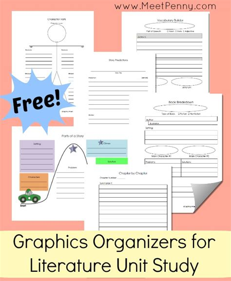 free printable unit study planner free literature notebooking printables