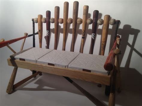 baseball bat bench hand crafted baseball bat bench by rocky mountain