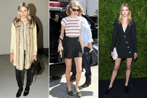 celebrity women wearing loafers fashion trend report loafers fashion trend report