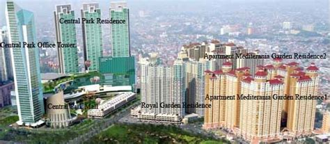 layout apartemen central park jakarta podomoro city
