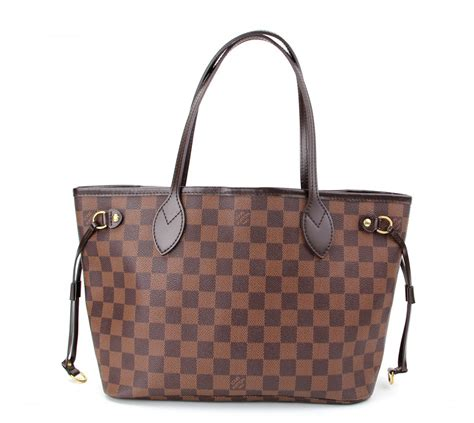 authentic louis vuitton damier neverfull pm shoulder tote