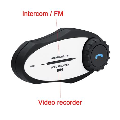 Motorbike Handsfree BT Interphone MP3 FM Radio 720P Video