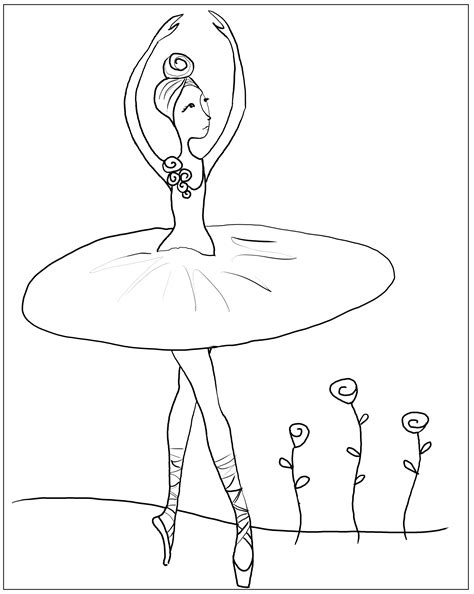 coloring pages ballerina shoes ballerina coloring pages 17626 bestofcoloring com
