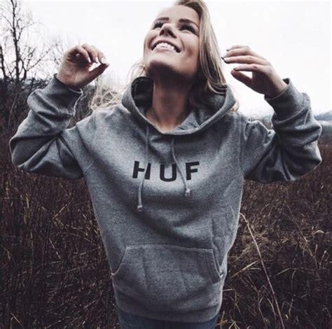 Hoodie Sweater Huf sweater grey sweater huf hoodie hoodie gray hoodie