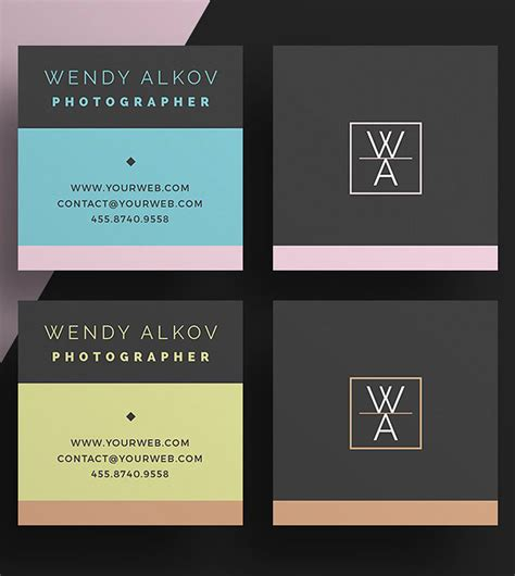 mini business cards template mini square business card psd templates design graphic