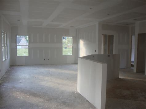 How To Drywall A Room by Home Building Project Drywall Lighting And Furniture