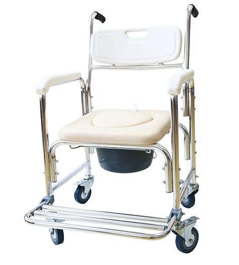 benovate 3 in 1 luxury commode shower chair with wheels ebay