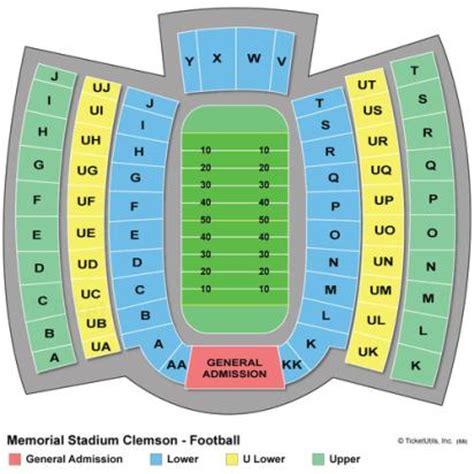 clemson seating chart valley 2 sec tdk clemson tigers uga bulldogs football