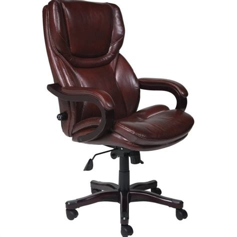 Office Chairs Brown Executive Office Chair In Brown Bonded Leather 43506