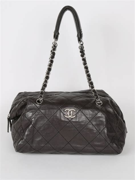 Chanel Luxury Tote Chanel Quilted Black Leather Tote Luxury Bags