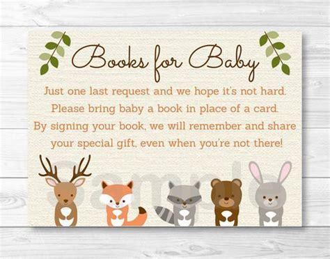 Forest Animal Baby Shower by Woodland Forest Animal Baby Shower Book Request Cards