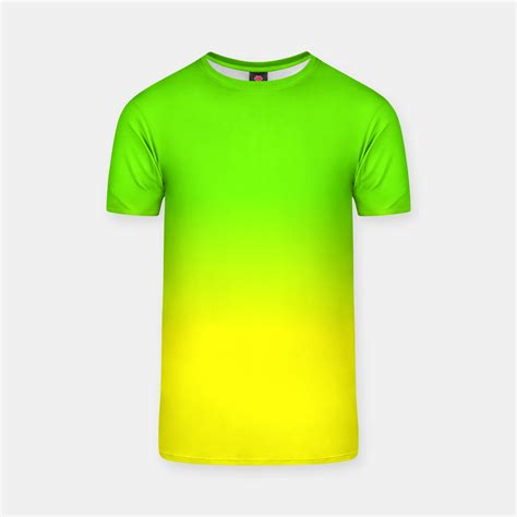 neon color shirts neon green and neon yellow ombr 233 shade color fade t shirt