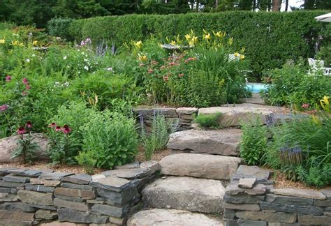 Tiered Garden Beds Stone Garden Design With Raised Bed