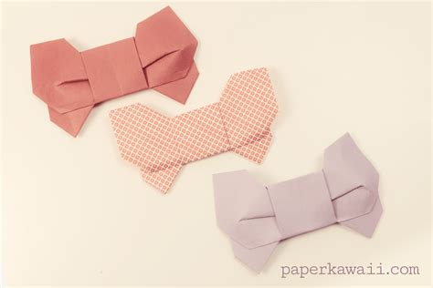 How To Fold A Paper Bow - origami 3d bow tutorial paper kawaii