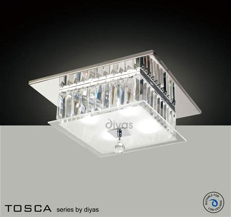 p square tosca diyas il30245 tosca 4 light flush fitting in