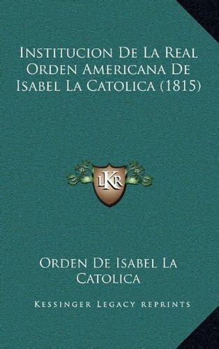 libro institucin de la religin libro institucion de la real orden americana de isabel la