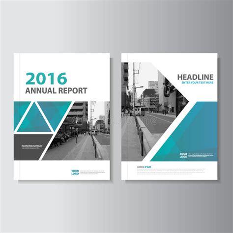 magazine leaflet design blue green vector annual report magazine leaflet brochure
