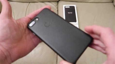 apple iphone 7 8 plus leather same size black unboxing