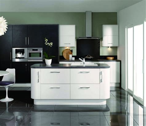 high gloss black kitchen cabinets black and whiet color high gloss kitchen cabinet