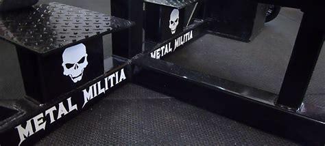 metal militia bench