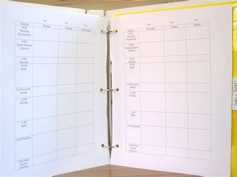 diy teacher planner binder ms houser pics for lesson planning post and food 003 ms houser