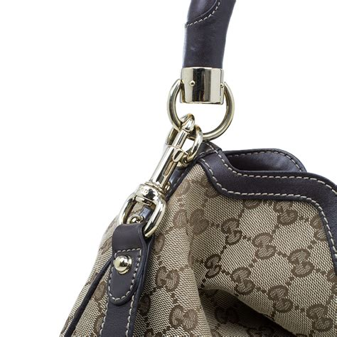 Gucci Indy Large Top Handle Bag by Gucci Beige Monogram Canvas Large Indy Top Handle Bag