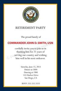 Navy Retirement Program Template by Retirement Invitation All By Paperpapelshop
