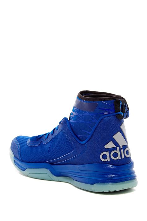 lyst adidas originals dual threat basketball shoe in blue for