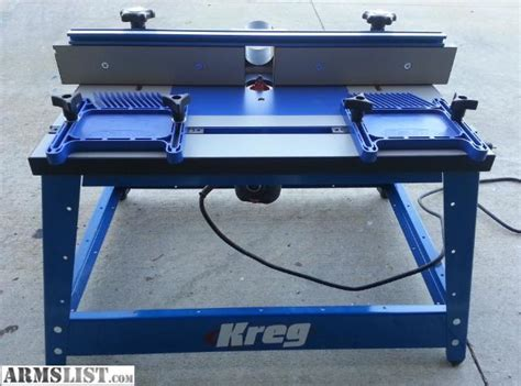 armslist for trade kreg router table porter cable