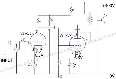 class a wiring 6v6 6j5 class a valve vacuum lifier circuit