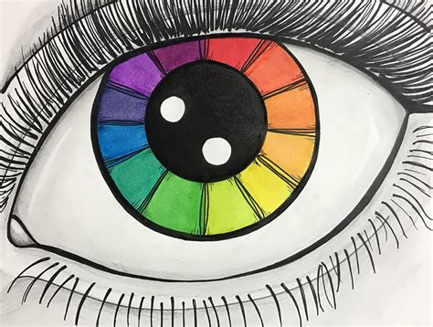 color wheel project eye color wheel exle by l l washburn for