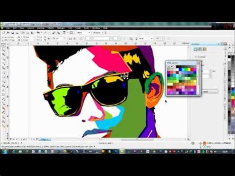 download video tutorial wpap corel draw tutorial coreldraw coloring wpap atau pewarnaan pada