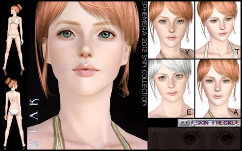 sims 3 default replacement skin mod the sims eskin weak set with default replacement