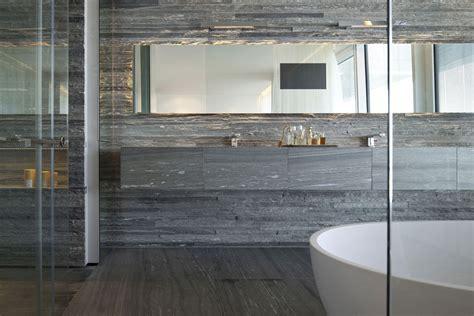 Large Mirror, Stone Tiles, Bathroom, Elegant Apartment