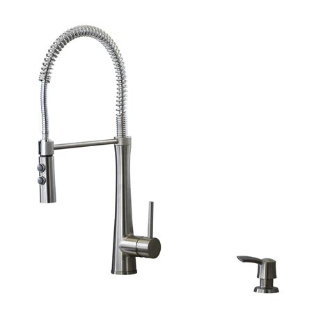 giagni kitchen faucet shop giagni fresco stainless steel 1 handle pre rinse deck mount kitchen faucet at lowes