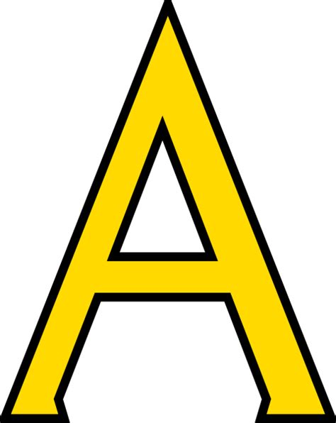 Letter A Yellow Letter A Clipart Cliparts And Others Inspiration