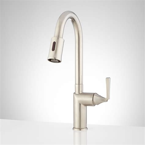 touchless kitchen faucets mullinax single hole touchless kitchen faucet kitchen
