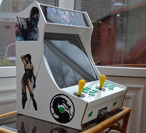 Mame Tabletop Cabinet Plans by Tabletop Arcade Machines Half Cabinet Half Amazing