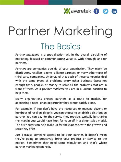 knowthis marketing basics third edition books what is partner marketing
