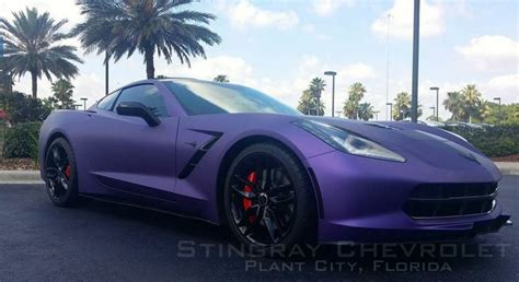 corvette stingray matte black 2014 c7 z 51 corvette stingray in matte purple metallic