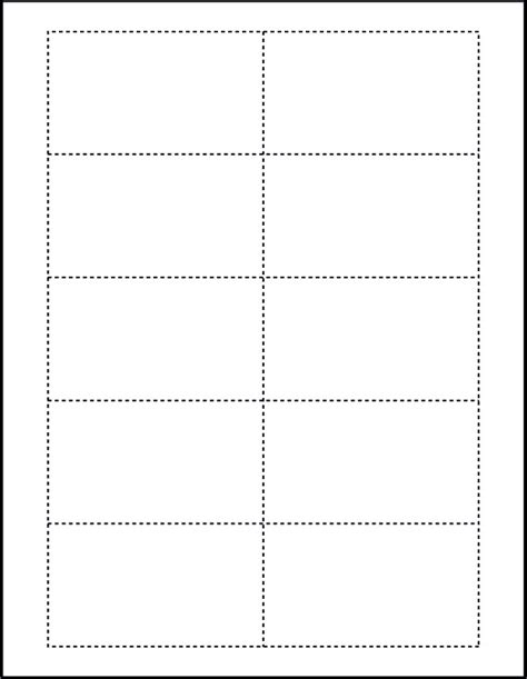 Printable Card Template Word by Free Blank Business Card Template For Microsoft Word