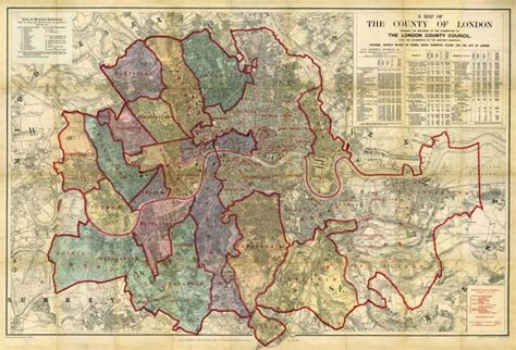 the london county council mapco map and plan collection online stanford s map of the county of london 1898