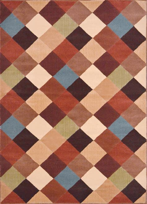 Modern Contemporary Rugs Contemporary Geometric Area Rug Modern Stripes Squares Carpet Actual 5 3 Quot X7 2 Quot Ebay