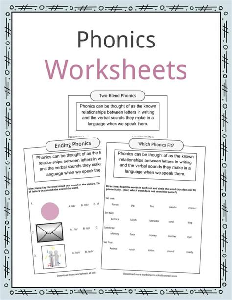 phonics table worksheets exles definition for