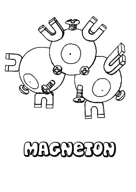 electric pokemon coloring pages magneton coloring pages hellokids com