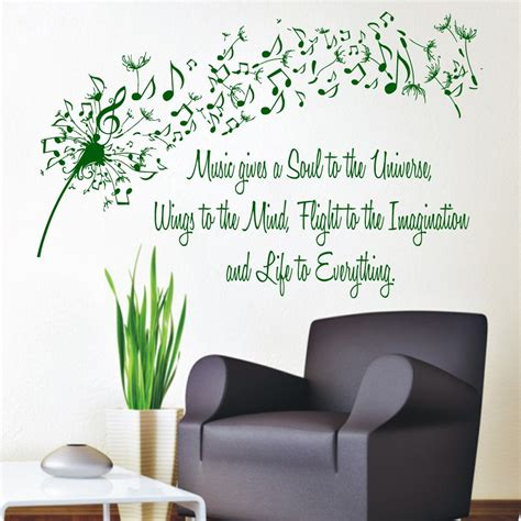 interior design wall decals dandelion wall decals quote gives a soul to the