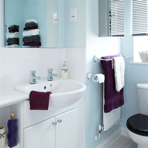 attractive White Bathroom Ideas Photo Gallery #1: Pale-Blue-and-White-Bathroom-Style-At-Home-Housetohome.jpg