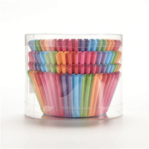 100 5 Pcs Rainbow 100pcs cupcake liner baking rainbow cup paper muffin