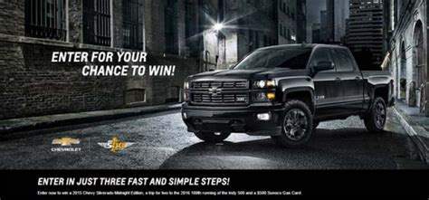 Chevy Sweepstakes - winyourchevy com win the chevrolet silverado midnight edition sweepstakes