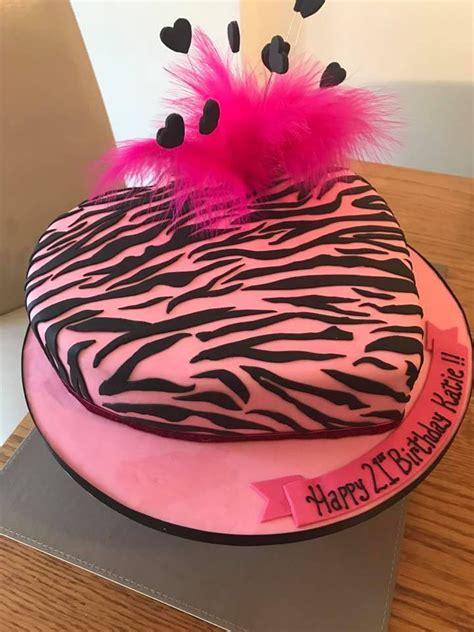 heart pattern cake zebra pattern heart shaped 21st cake cakecentral com
